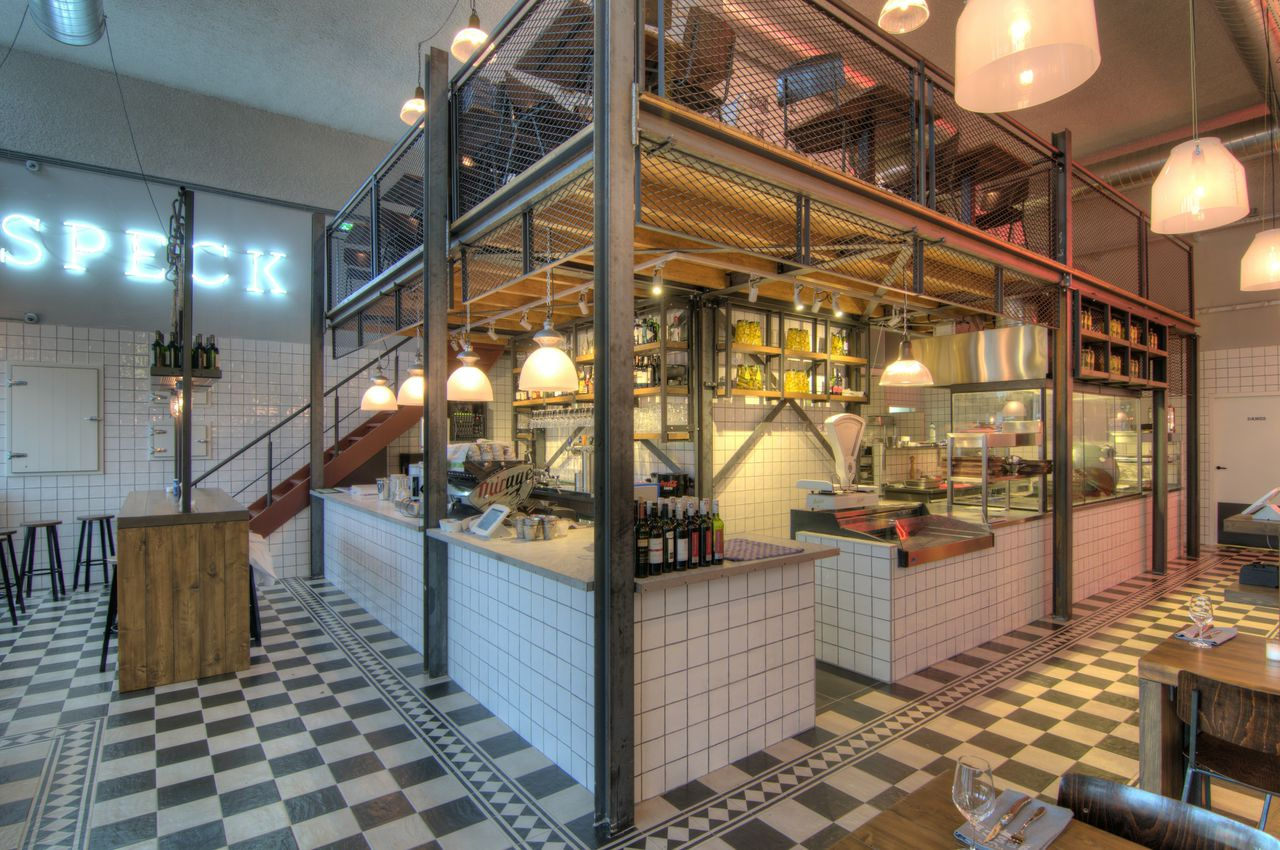 Speck bar grill interieur ontwerp restaurant tubbs design interior web print for Decoration interieur cafe bar