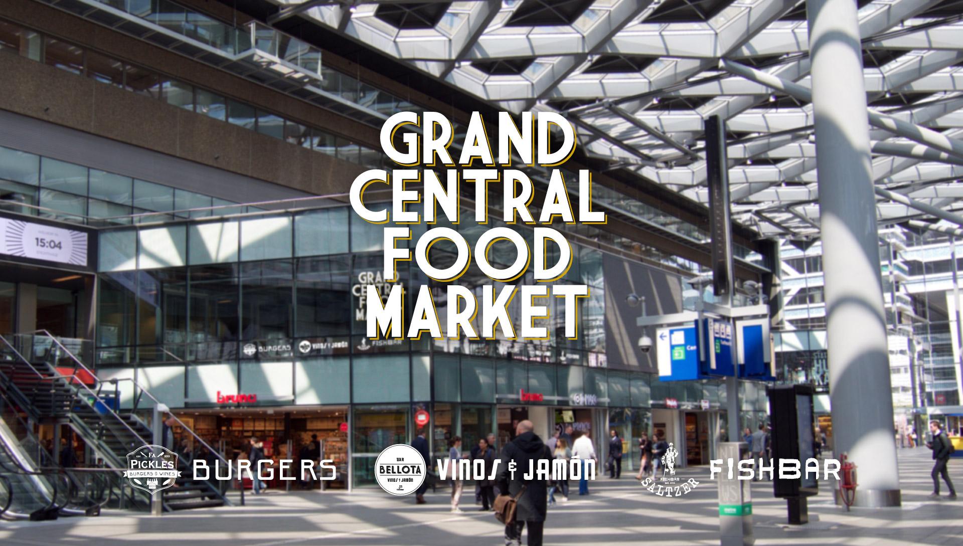 Grand central food market interieur ontwerp bar for Interieur horecazaken