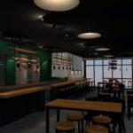 De Pastabar Utrecht Interieur 3D Impressie